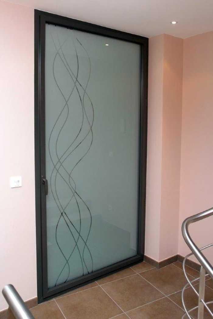Porte-fenêtre grand jour en aluminium de la marque technal 0