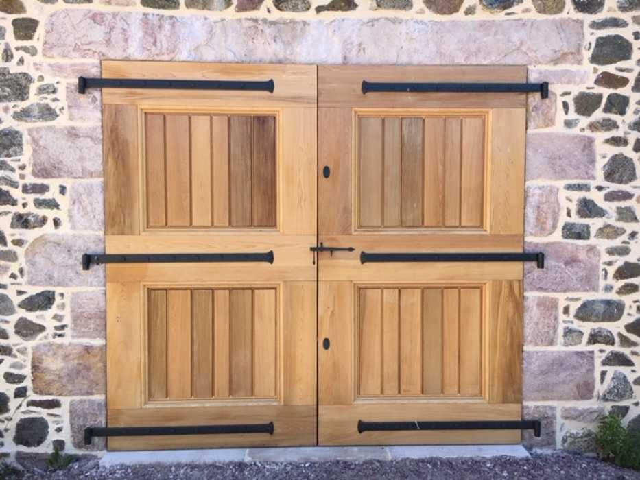 Fabrication et pose d''une porte deux vantaux à l'ancienne type grange 0