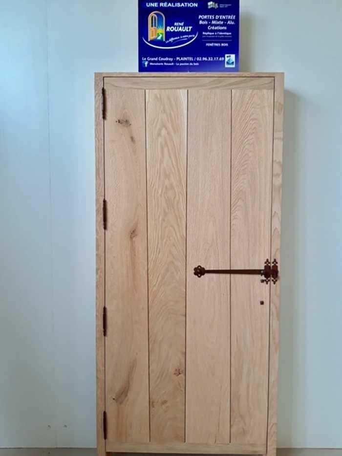 Fabrication d''une porte intérieure à l'ancienne sur mesure en bois 0