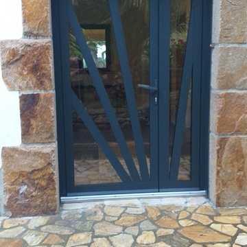 Rénovation d''une porte en aluminium tiercée technal- Côtes-d''Armor (22) img8705