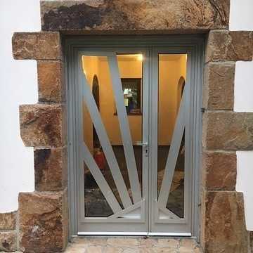 Rénovation d''une porte en aluminium tiercée technal- Côtes-d''Armor (22) img7812