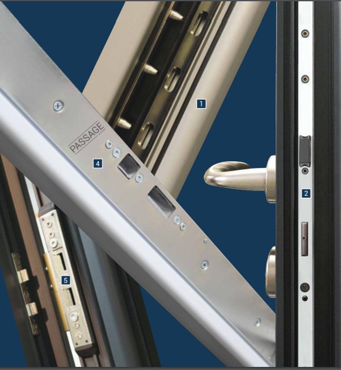 Notre nouvelle gamme de portes alu : la sécurité 0